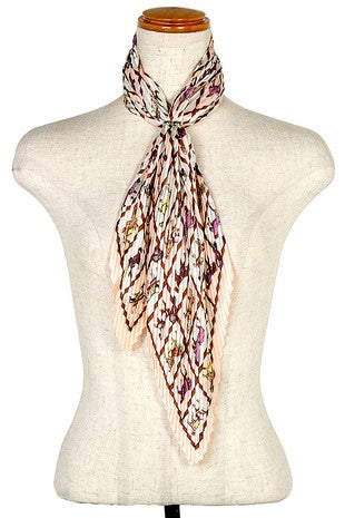 Pleated Horse Scarf