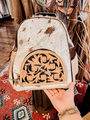 The Mally Cowhide Backpack