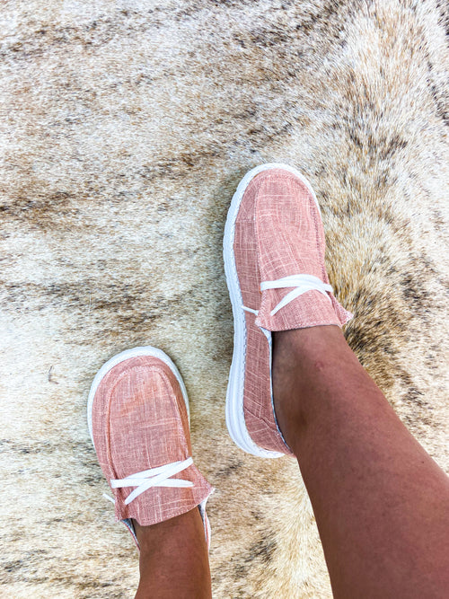 Blushing Pink Slip On Sneaker