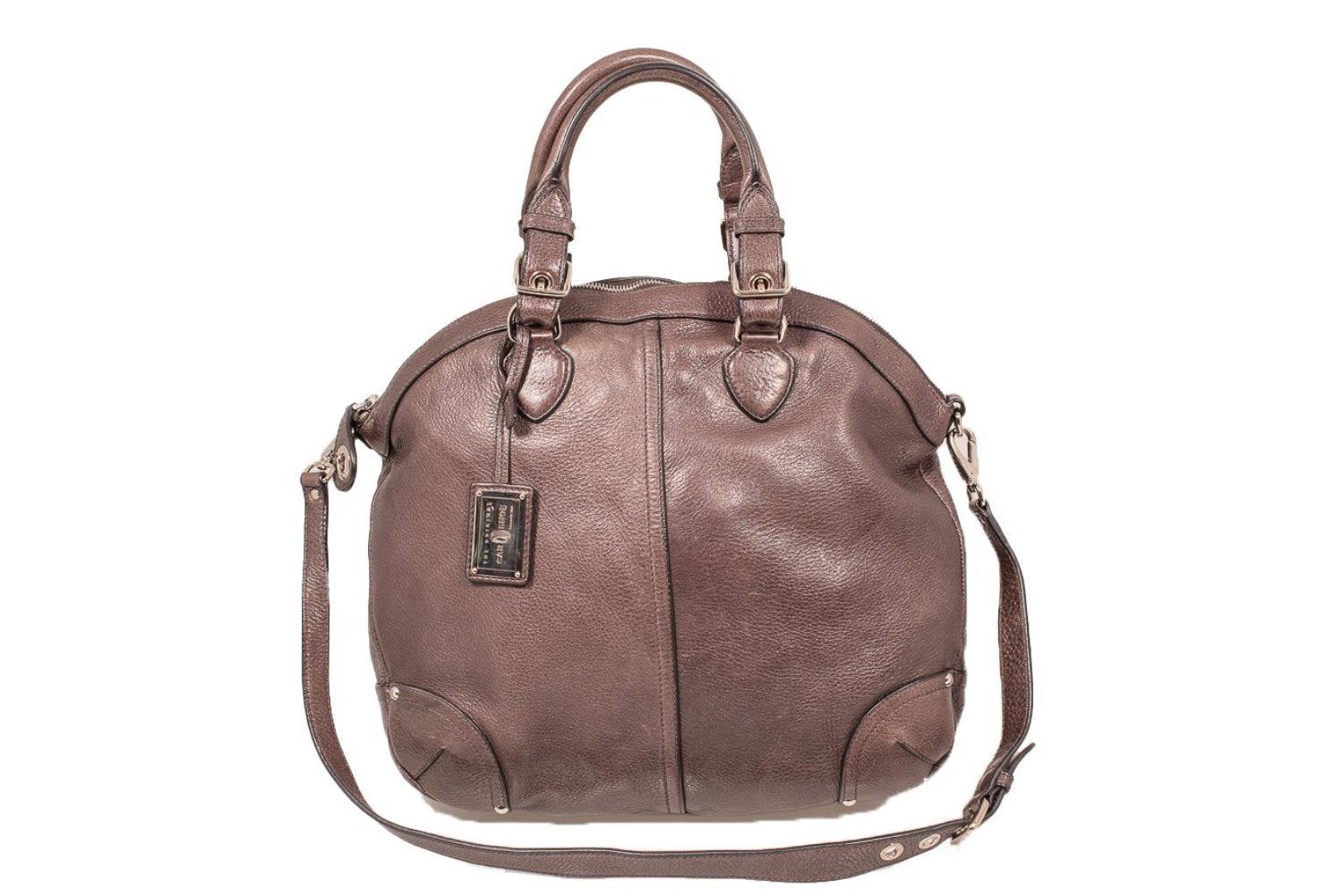 4ae962112f7a Car Shoe Authentic Brown Leather Big Hobo Sack Shoulder Cross Body Bag ...