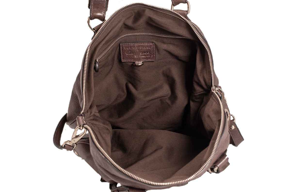 ... Car Shoe Authentic Brown Leather Big Hobo Sack Shoulder Cross Body  Bag 4 ... 5bf553a8608e4
