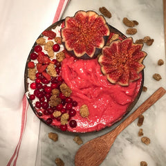 Pink Smoothie Bowl recipe for Breast Cancer Awareness Month