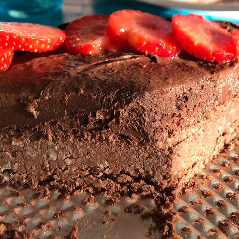 double layer raw chocolate cake recipe