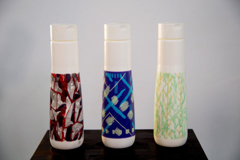 Sugarcane water bottles that provide six months of clean water to someone in the Central African Republic for every bottle sold.