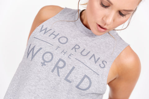 Who Runs the World tee available at Heroica Life