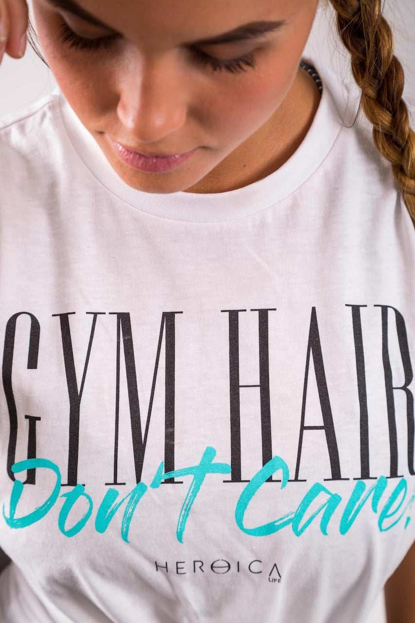 Gym Hair, Don't Care (White)