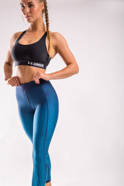 Graphic Ankle Crop Tight (Blue)