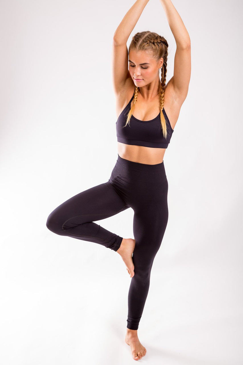 High Seamless Leggings (Black)