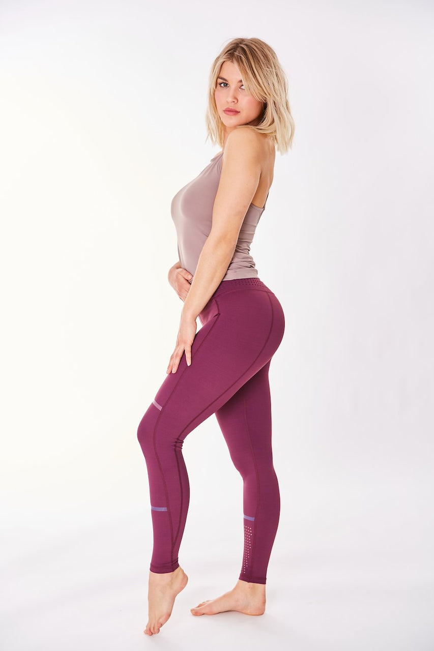 Aspen Legging (Plum Red)