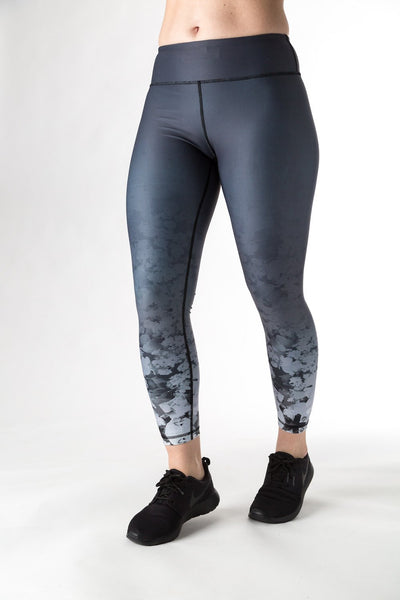 Rockell 7/8 Tights (Charcoal Ombré Wildflower)