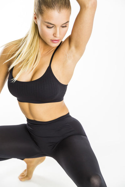 Seamless Bra Top (Black)