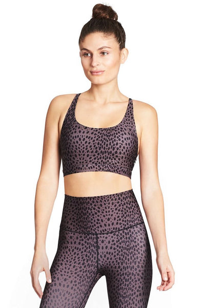 Y Back Sports Bra (Mauve Cheetah)