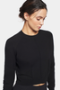 Air Cropped Jumper (Black)