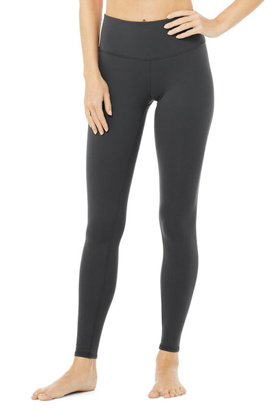 High-Waist Airbrush Legging (Anthracite)