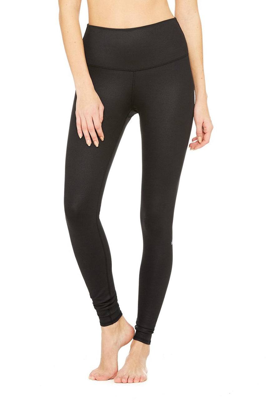 High-Waist Airbrush Legging (Black)