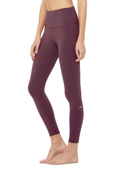 High-Waist Airbrush Legging (Black Plum)