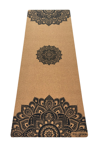 Cork 1.5mm Travel Mat (Mandala Black)
