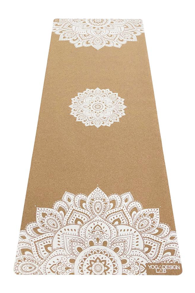 Cork 1.5mm Travel Mat (Mandala White)