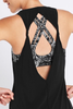 Double Twist Back Tank (Black)