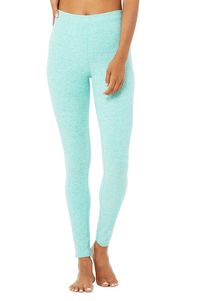 High-Waist Alosoft Flow Legging (Blue Quartz Heather)
