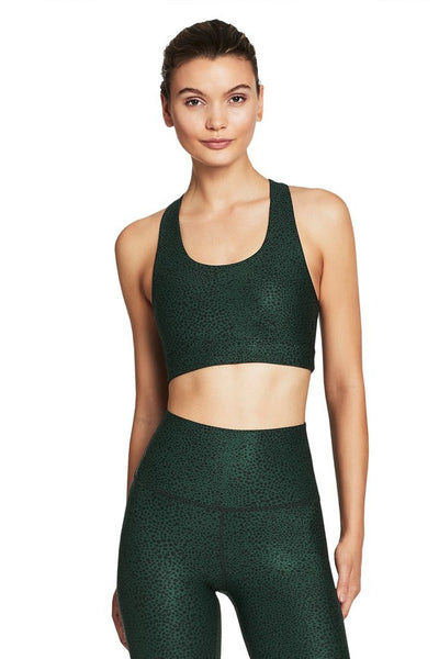 Free Form Sports Bra (Forest Green Pebble)