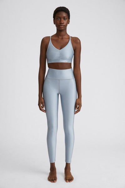 Cropped Gloss Legging (Silver Grey)