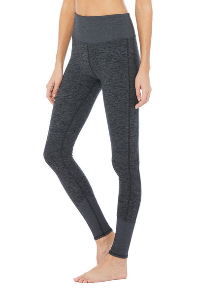 High-Waist Alosoft Lounge Legging (Dark Heather Grey)