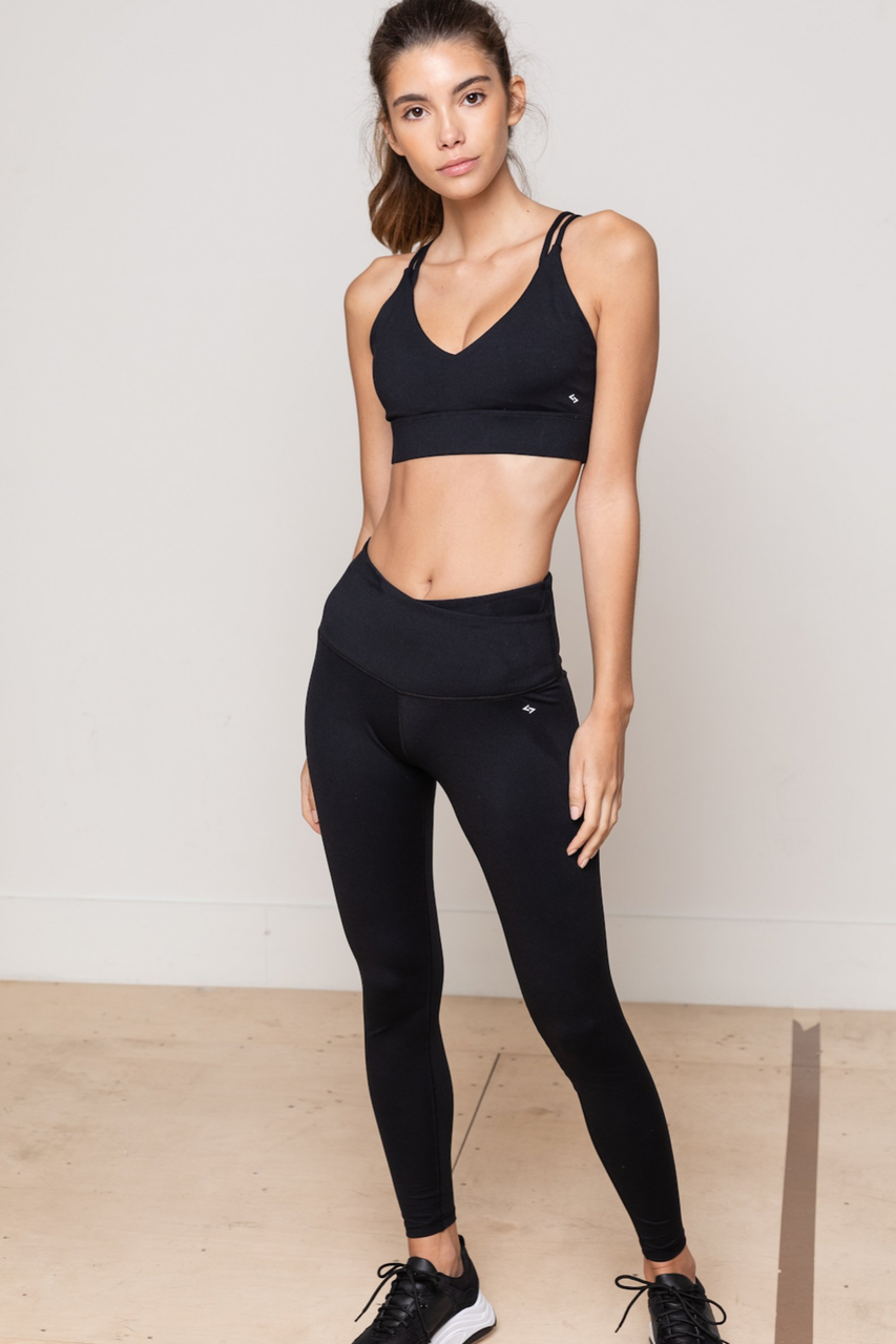Classic High-waist Legging (Black)