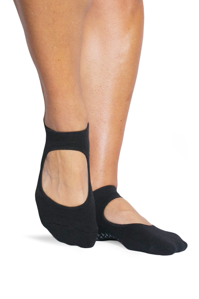 Josie Grip Strap Sock (Black)