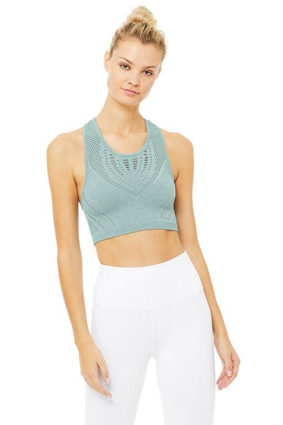 Lark Crop Top (Heather Green)
