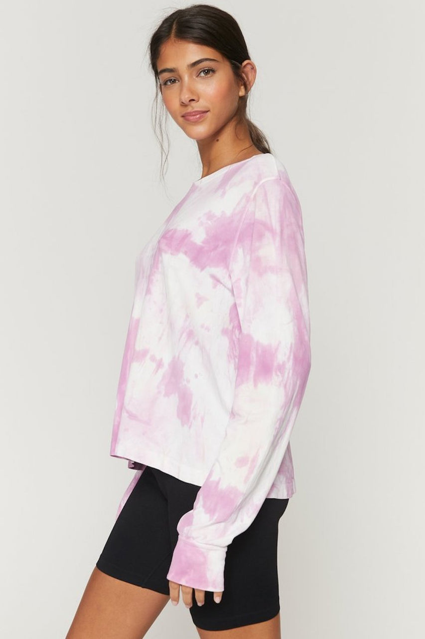 Supernova Long Sleeve Top (Amethyst Beach Tie Dye)