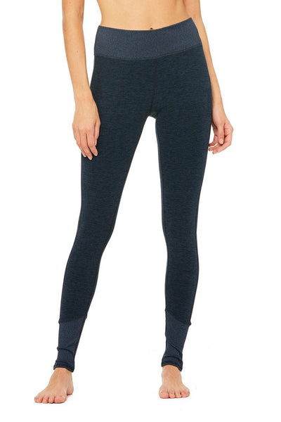 High-Waist Alosoft Lounge Legging (Navy Heather)