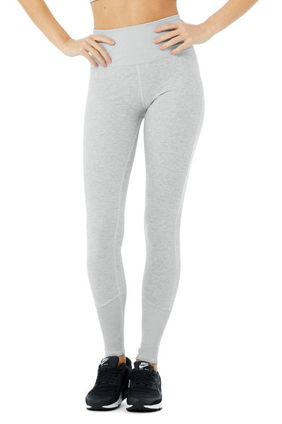 High-Waist Alosoft Lounge Legging (Zinc Heather)