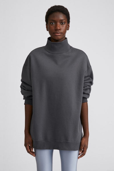 Oversized Brushed Sweatshirt (Metal)