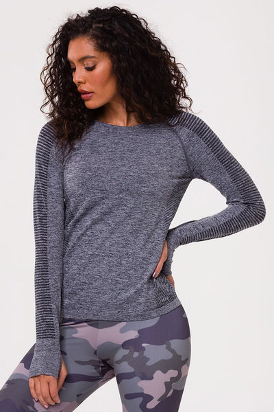 Seamless Long Sleeve Top (Seamless Black)