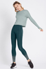 Stop & Stretch Long Sleeve Top (Heather Sage)