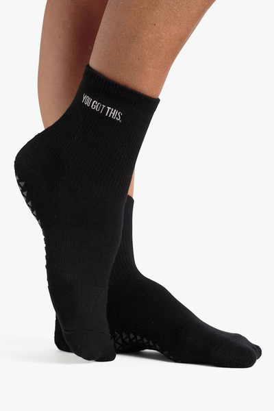 You Got This Ankle Grip Sock (Black)