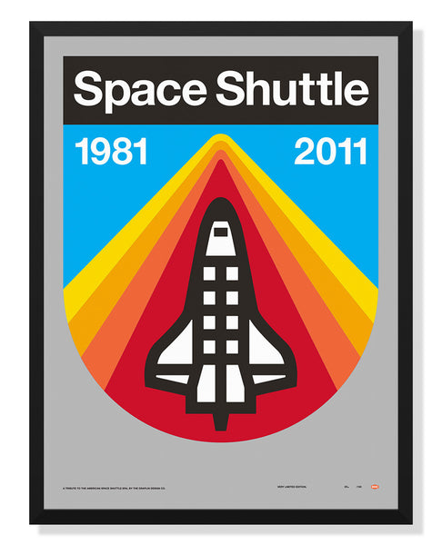 Space Shuttle Poster By Aaron Draplin