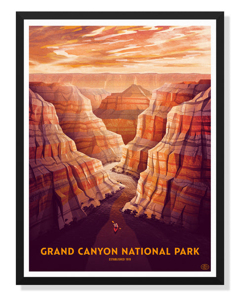 Grand Canyon National Park Poster by DKNG