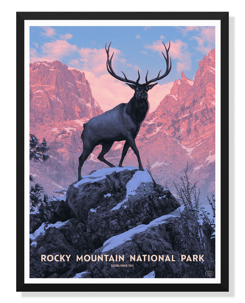 Rocky Mountain National Park Poster by Rory Kurtz