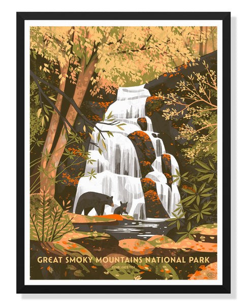 Great Smoky Mountains National Park Poster by Chris Turnham