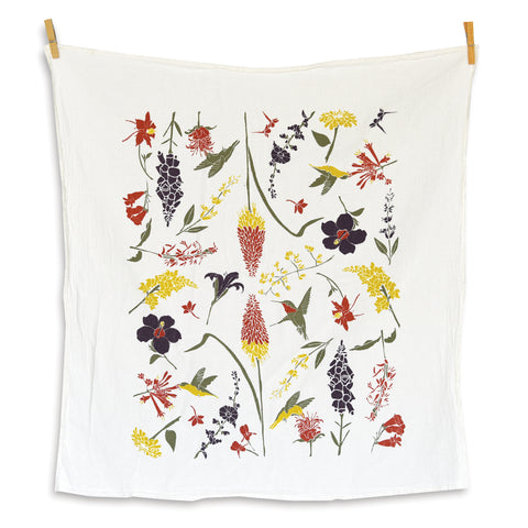 June & December - Hummingbird Garden Towel
