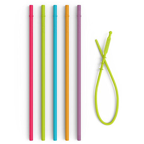 Softy Straws - 10.5 Long Reusable Silicone Tumbler Straws