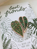 Best Fronds Enamel Pin Pair