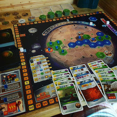 terraforming mars coop solo game play board game