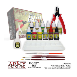 Army Painter Hobby Set paints and brushes