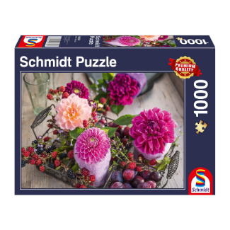 Schmidt Spiele Berries and Flowers 1000 piece puzzle box