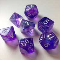 Borealis 7 Piece Dice Set - Purple
