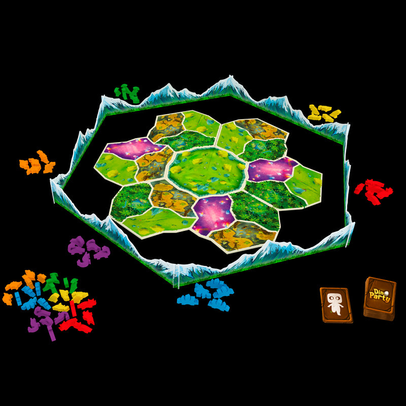 Dino Party kids family board game dinosaur meeples