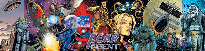 Fear Agent trifold GM screen art